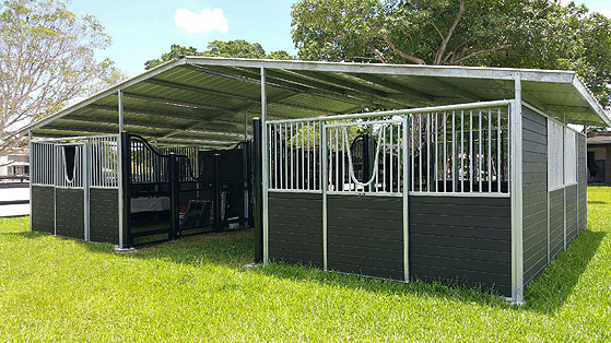 Horse barns triton horse barn solid wall aisle horse for 4 stall horse barn