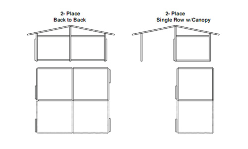 Custom horse Stalls Building End View 2