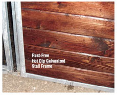 Rust Free Hot Dip Galvanized Stall Frame