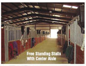 Free Standing Stalls with Center Aisle