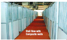 Horse stall doors. Stall Row with Composite Walls