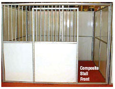 Horse stall doors. Composite Stall Front