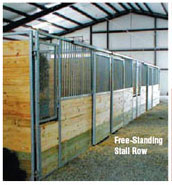 Free Standing Stall Row