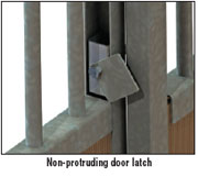 non-protruding door latch
