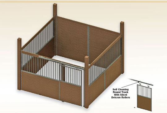 Assembled Free Standing Horse stall kit