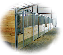 Free-standing Stall Row
