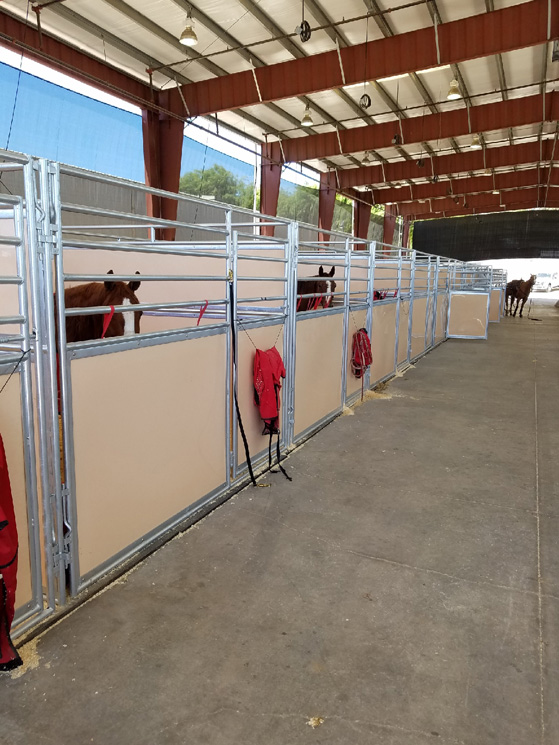 Portable Poly Temporary Horse Stall